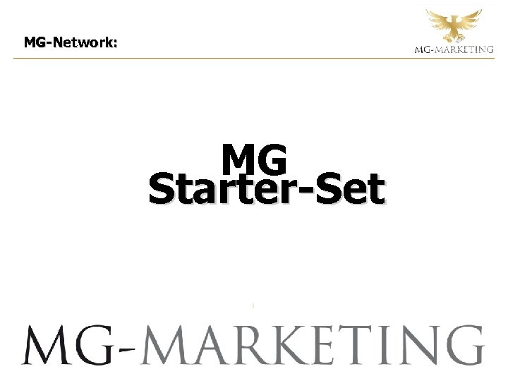 MG-Network: MG Starter-Set