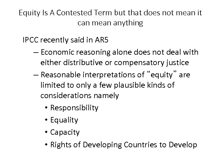Equity Is A Contested Term but that does not mean it can mean anything