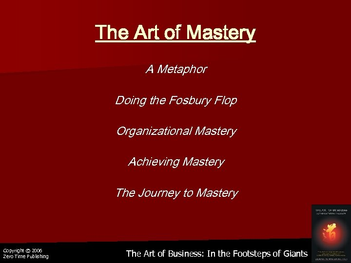 The Art of Mastery A Metaphor Doing the Fosbury Flop Organizational Mastery Achieving Mastery