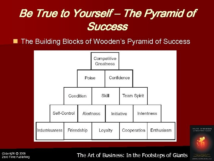 Be True to Yourself – The Pyramid of Success n The Building Blocks of