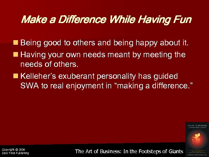 Make a Difference While Having Fun n Being good to others and being happy
