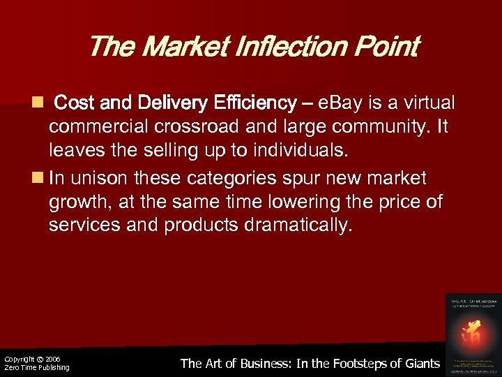 The Market Inflection Point n Cost and Delivery Efficiency – e. Bay is a