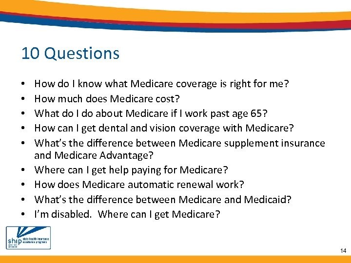 10 Questions • • • How do I know what Medicare coverage is right