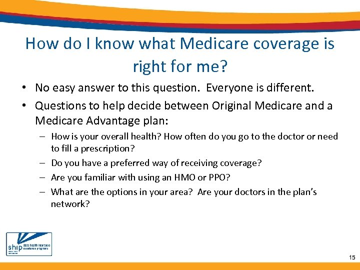 How do I know what Medicare coverage is right for me? • No easy