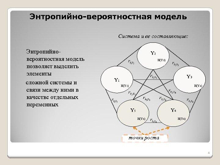 Энтропийно-вероятностная модель Система и ее составляющие: Энтропийновероятностная модель позволяет выделить элементы сложной системы и
