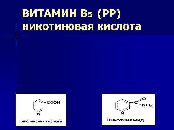 ВИТАМИН В 5 (РР) никотиновая кислота