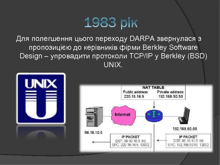 Для полегшення цього переходу DARPA звернулася з пропозицією до керівників фірми Berkley Software Design