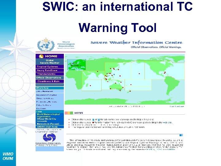 SWIC: an international TC Warning Tool