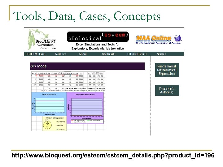 Tools, Data, Cases, Concepts http: //www. bioquest. org/esteem_details. php? product_id=196