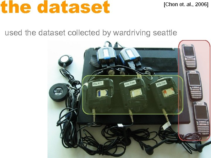 the dataset [Chen et. al. , 2006] used the dataset collected by wardriving seattle