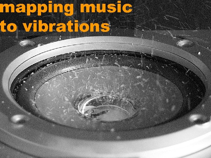 mapping music to vibrations