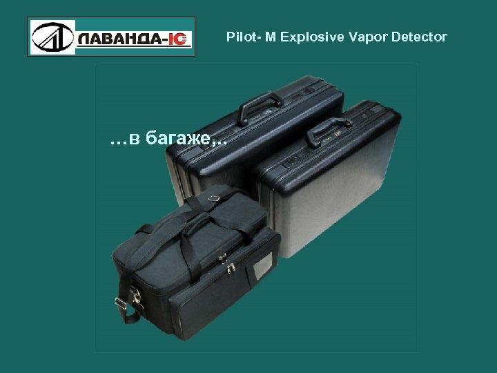 Pilot- M Explosive Vapor Detector …в багаже, . .