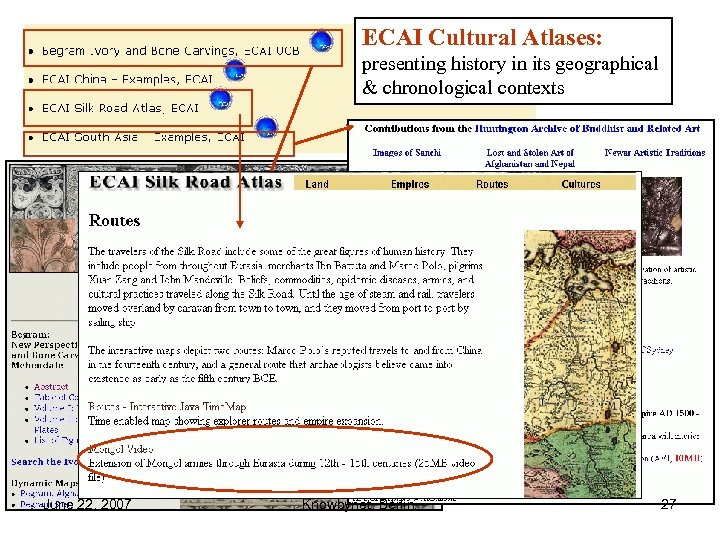 ECAI Cultural Atlases: presenting history in its geographical & chronological contexts June 22, 2007