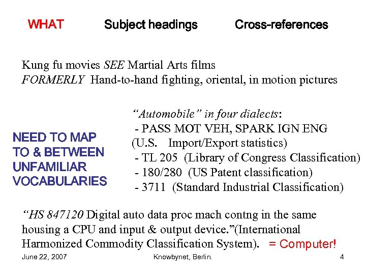 WHAT Subject headings Cross-references Kung fu movies SEE Martial Arts films FORMERLY Hand-to-hand fighting,