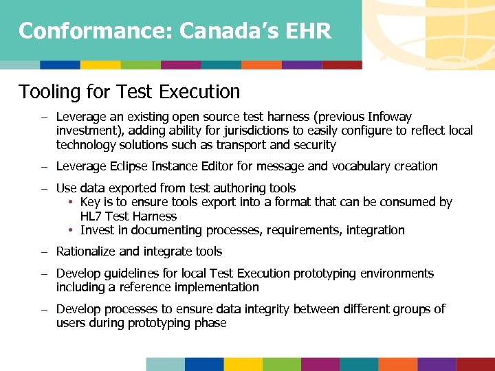 Conformance: Canada's EHR Tooling for Test Execution – Leverage an existing open source test