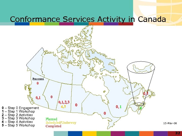 Conformance Services Activity in Canada Panorama 0 0, 1 0 – Step 0 Engagement