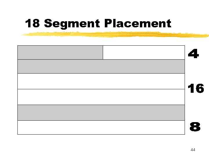18 Segment Placement 44