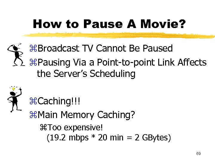 How to Pause A Movie? z. Broadcast TV Cannot Be Paused z. Pausing Via