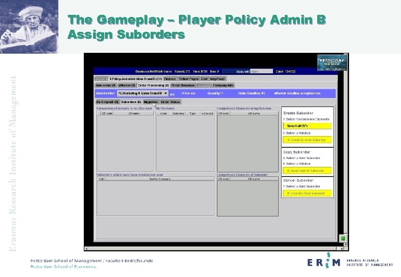 The Gameplay – Player Policy Admin B Assign Suborders