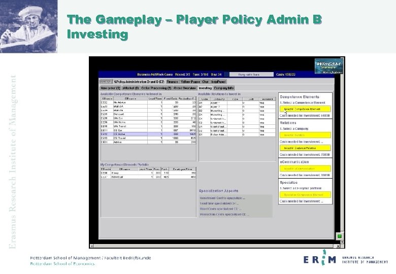The Gameplay – Player Policy Admin B Investing