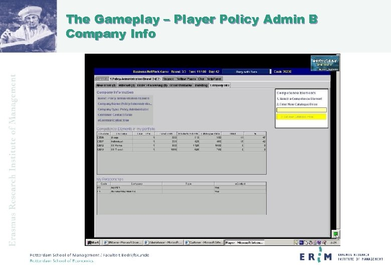 The Gameplay – Player Policy Admin B Company Info