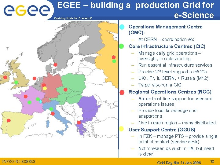 EGEE – building a production Grid for e-Science Enabling Grids for E-scienc. E •