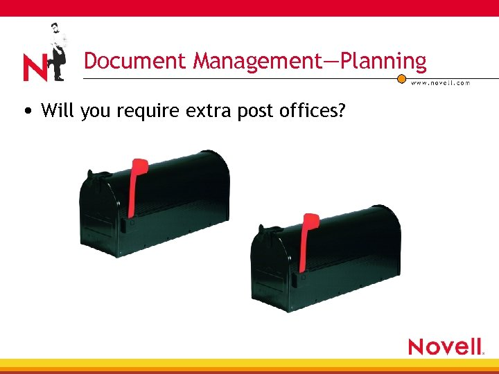 Document Management—Planning • Will you require extra post offices?
