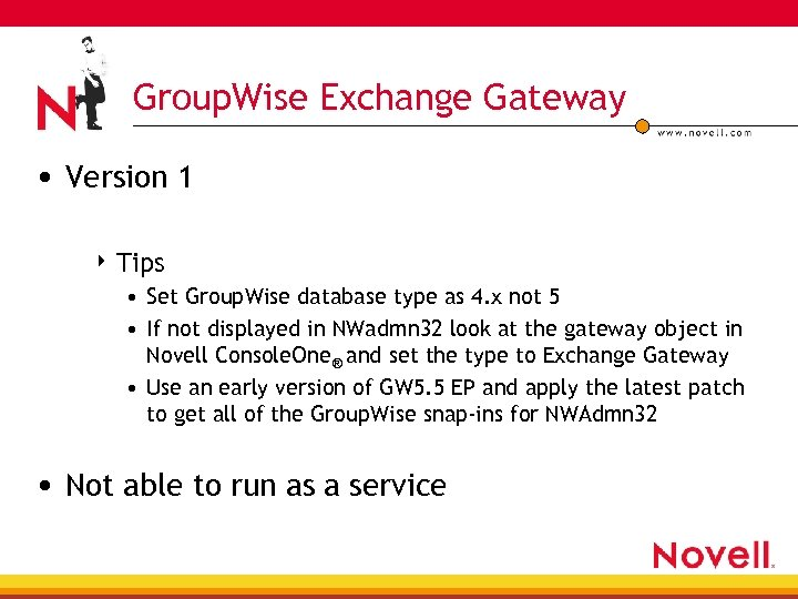 Group. Wise Exchange Gateway • Version 1 4 Tips • Set Group. Wise database