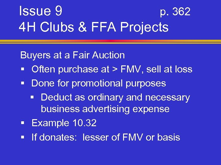 Issue 9 p. 362 4 H Clubs & FFA Projects Buyers at a Fair