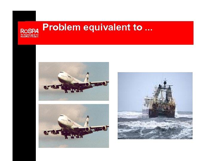 Problem equivalent to. . .