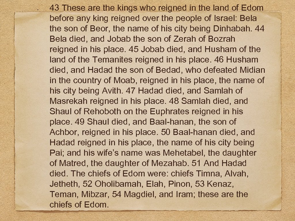 43 These are the kings who reigned in the land of Edom before any