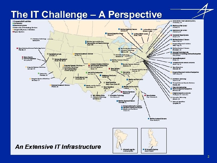 The IT Challenge – A Perspective An Extensive IT Infrastructure 2