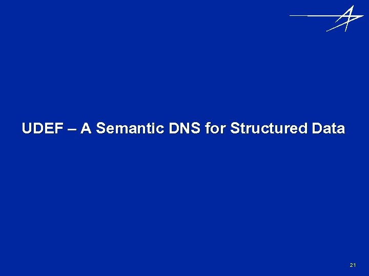 UDEF – A Semantic DNS for Structured Data 21