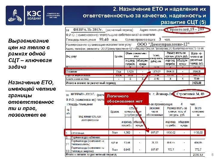 2. Назначение ЕТО и наделение их ответственностью за качество, надежность и развитие СЦТ (5)