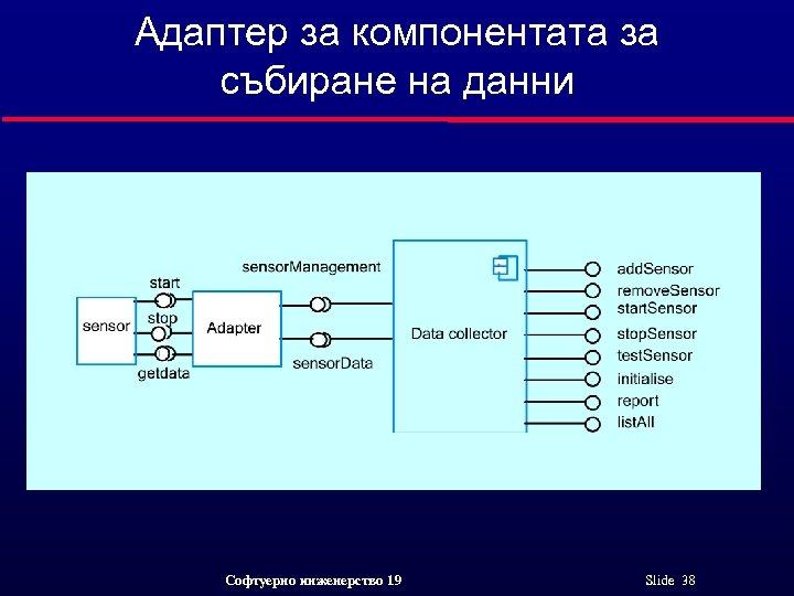 Адаптер за компонентата за събиране на данни Софтуерно инженерство 19 Slide 38