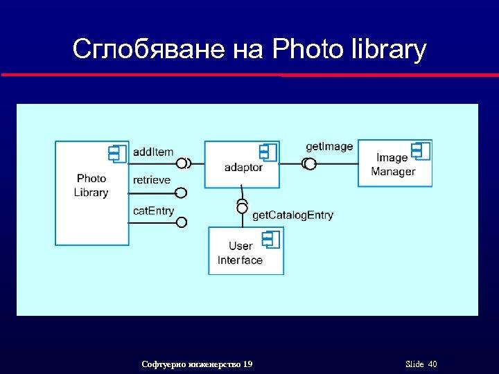 Сглобяване на Photo library Софтуерно инженерство 19 Slide 40