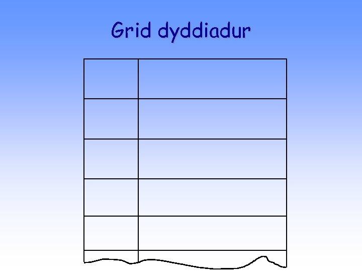 Grid dyddiadur