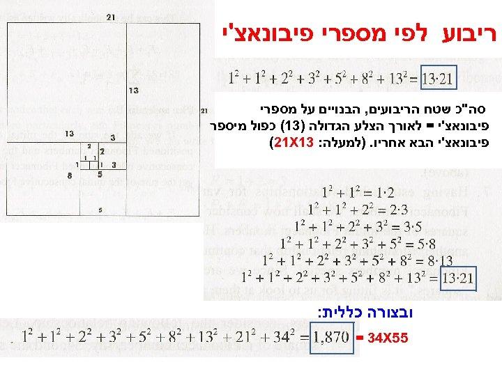 ריבוע לפי מספרי פיבונאצ'י סה