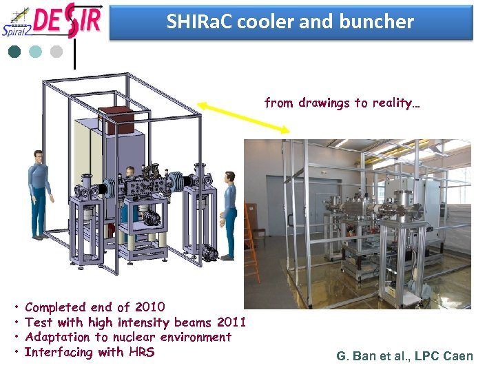 SHIRa. C cooler and buncher from drawings to reality… • • Completed end of