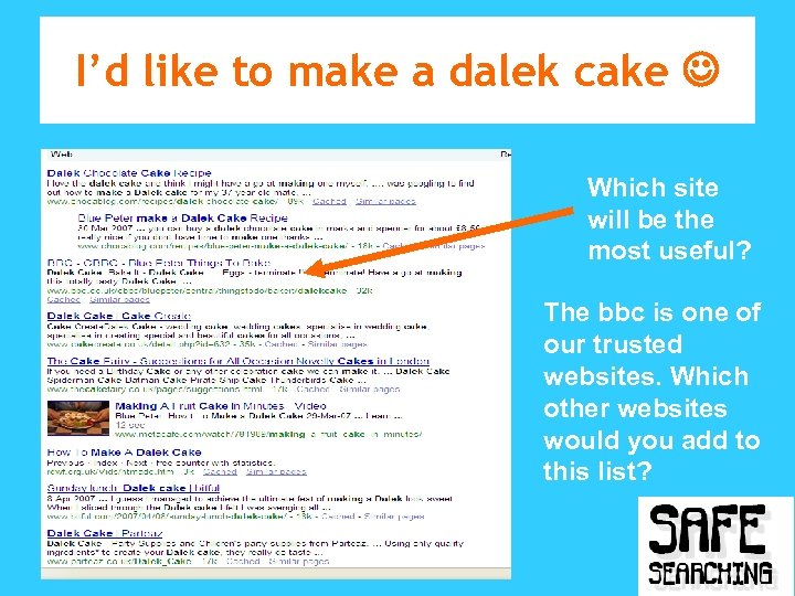 I'd like to make a dalek cake Which site will be the most useful?