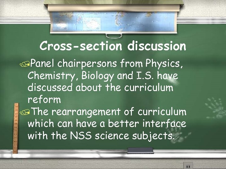 Cross-section discussion /Panel chairpersons from Physics, Chemistry, Biology and I. S. have discussed about
