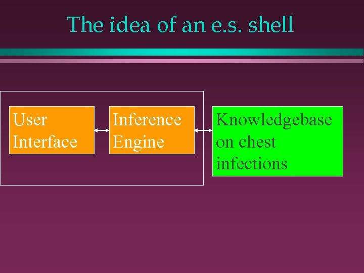 The idea of an e. s. shell User Interface Inference Engine Knowledgebase on chest