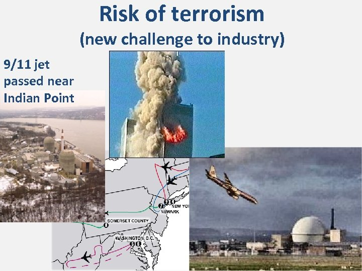 Risk of terrorism (new challenge to industry) 9/11 jet passed near Indian Point