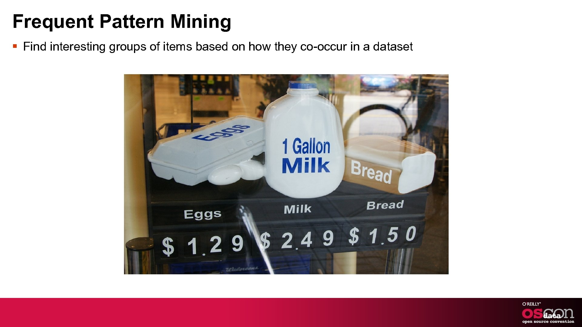 Frequent Pattern Mining § Find interesting groups of items based on how they co-occur
