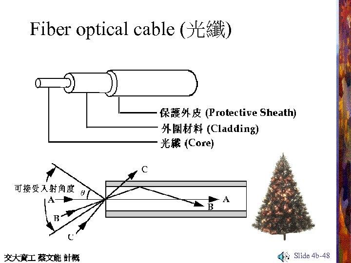 Fiber optical cable (光纖) 交大資 蔡文能 計概 Slide 4 b-48
