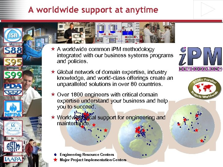 A worldwide support at anytime « A worldwide common i. PM methodology integrated with