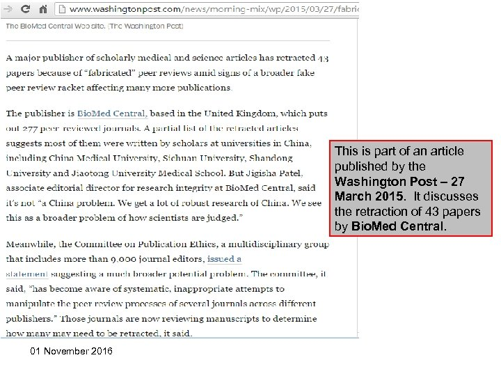 This is part of an article published by the Washington Post – 27 March