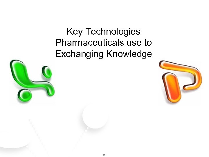 Key Technologies Pharmaceuticals use to Exchanging Knowledge 16