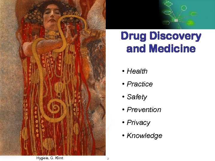 Drug Discovery and Medicine • Health • Practice • Safety • Prevention • Privacy
