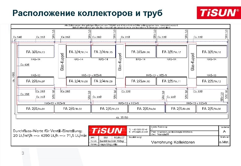 Расположение коллекторов и труб 3